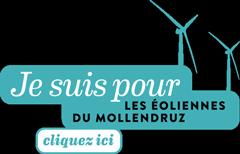 Je suis pour le éoliennes du Mollendruz Logo